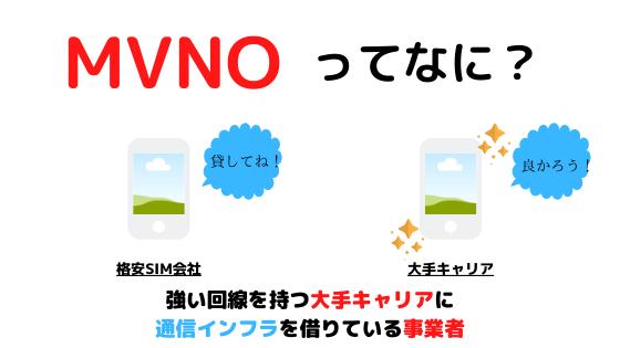 MVNOの図解